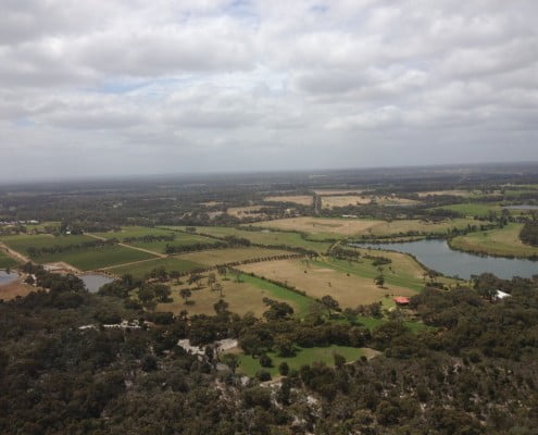 Margaret River from a helicopter