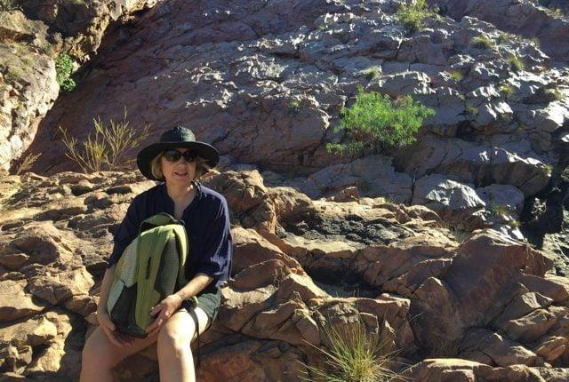 Jacinta hiking